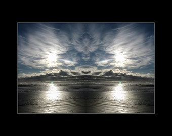 Mirror 086 12x16 Signed print_abstract photography archival giclee_ocean cloud angel seascape_Loree Harrell The Mirror Project_Ready to ship