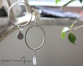 Gypsy Spirit    Silver ear weights plugs earrings tribal gypsy jewelry
