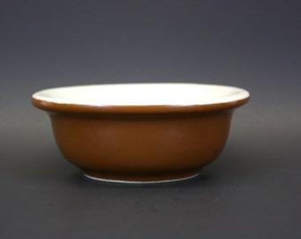 Vintage Shenango Brown and White Flared Lip Restaurant China Bowl (E2998)