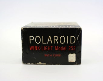 Vintage Poloroid Camera Wink-Light Model 252 (E6649)