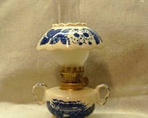 Vintage Mini Hurricane Oil Lamp