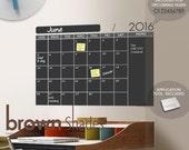 2016 Chalkboard Wall Calendar - Wall Decal SALE!
