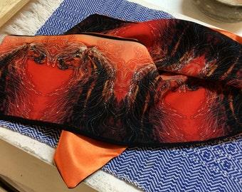 Horse Silky faille sash - Autumn Sundance -  women's fashion -  from original batik
