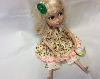 Doll clothes, Tonner, Patience, 3 pc, ooak, sweet little girl print!