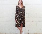 V Neck Midi dress, Floral