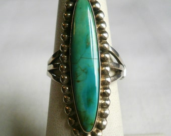 Sterling Silver Turquoise Ring-Size 6