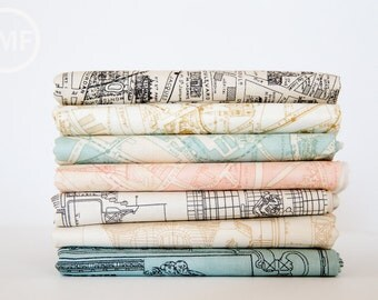 Passport Fat Quarter Bundle, 7 Pieces, 3 Sisters, Moda Fabrics, 100% Cotton Fabric