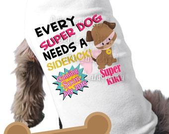 Big brother or big sister to be dog superhero superdog shirt pregnancy announcement dog shirt