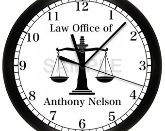 Scales of Justice Court Wall Clock