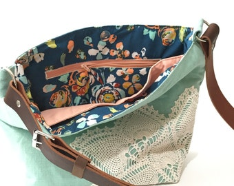 Addition of a Print Lining and Zip Pocket for a Hobo or Tote Bag