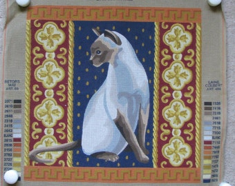 DMC Siamese Cat Needlepoint/Tapestry Canvas