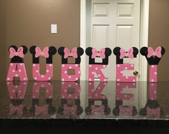 Minnie Mouse Custom Name Letters - price is per letter