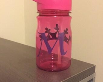 Monogrammed princess water bottle