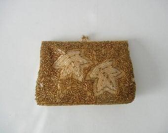 Vintage Purse, Vintage Clutch, Gold Vintage Clutch, 1950 Gold Clutch, 1950 Pocketbook, Vintage 50s Purse, Vintage Handbag, Retro 50s Purse