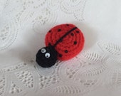 Crocheted Little Ladybug - Made to Order - Amigurumi