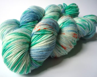 Hand dyed merino extrafine yarn hand painted: Most Welcome