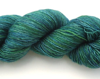 Hand dyed Merino Lace yarn hand painted: Message in a bottle