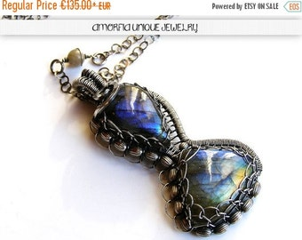 ON SALE Handmade , sterling silver , labradorite pendant