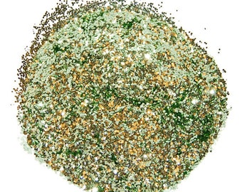 Sea Green SOLVENT RESISTANT GLITTER 0.040 Hex - 1 Fl. Ounce for Glitter Nail Art, Glitter Nail Polish and Glitter Crafts
