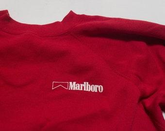 LRG   1980's Red Marlboro Sweatshirt   Worn In Thin & Soft