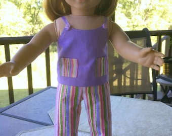 American Doll clothing, pajamas, sunsuit, summer outfit, doll clothes