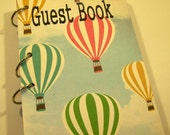 Guest Book, Hot Air Balloon Party, Party Sign in Book, Baby Shower Guest Book, Hot Air Balloon Birthday,  First Birthday