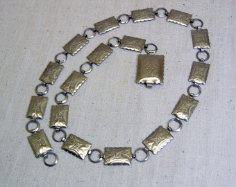 Southwestern Conch Belt, Silvertone Metal