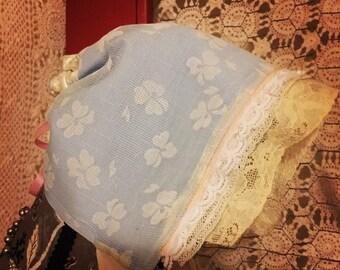 Baby bonnett vintage lace newborn -3 months