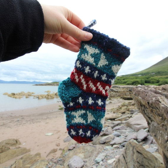 Knit Christmas Stocking Pattern for Tiny Stocking Ornament Fair ...