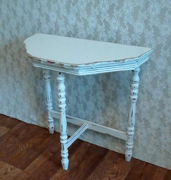 Shabby Cottage Nightstand Off White End Table Small Painted