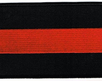 """Embroidered Patch in Honor of Fallen Firefighter the Thin Red Line 3"""" X 5"""""""