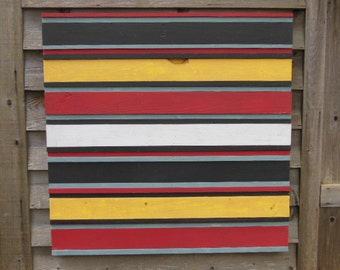 Modern Kilim - Weathered Wood Painting