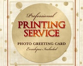 Professional Card Printing Service, Printing Add-on, Printing, Cards, Greeting Cards, Card, Envelopes Included - Photo Greeting Card