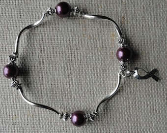 002 Hodgkin's Lymphoma Awareness Bracelet