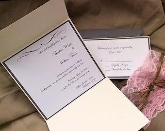 Elegant Country wedding Invitation suite