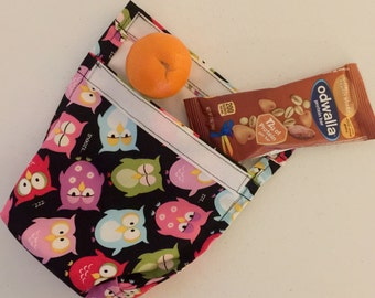 Eco friendly, reusable lunch or snack bag