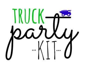 Truck Birthday Party Kit!  Birthday Party in a Box! Construction Truck party supplies