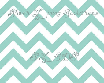 6ft x 6ft Photography Backdrop Tiffany Chevron Wallpaper photo prop