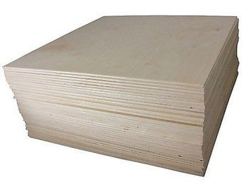 "1/8"" X 12"" X 12"" Baltic Birch Plywood Great for Laser, Cnc, and Scroll Saw. 45pc Woodpeckers®"