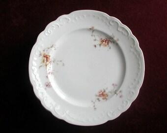 4 Antique Victorian Floral Cake Plates Karlsbad Austria Vintage Bohemian Porcelain
