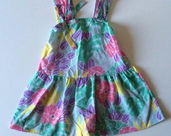 1980's Pastel Floral Sun Dress (3t)