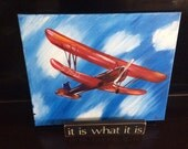 50% Off- Airplane, Barnstormer, Kitty Hawk, Wright Brothers, Boys Airplane  Decor, Canvas