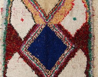 180x120 CM (5,10x3,11 feet) FREE SHIPPING worldwide  T26256 boucherouite , boucharouette,  moroccan rugs , berber rugs, morocco carpets