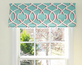 Rod Pocket Curtains, Rod Pocket Valances, Window Valance, Choose your Window Treatment, Custom Made Window Valances, Modern Home Decor