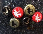 Vermont Beer Bottle Cap Magnets - VT Beer - Six Pack - Set of 6 - Colorful Bar Decorations - Gifts for Guys or Girls