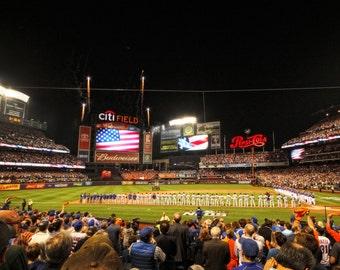 New York Mets Citi Field 2015 NLDS Color Photograph New York City Postseason October Baseball Playoffs Los Angeles Dodgers Night Game