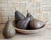Primitive Pear Bowl Fillers, Green Pear Fruit, Rustic, Cottage, Farmhouse Decoration