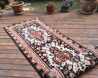 "Free shipping---wool 100% High quality soft wool runner / Turkish handmade rug /home decor / 290x81cm / 9'5"" x 2'6"""