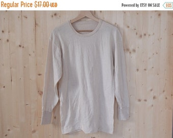 SALE White Wool First Layer Blouse Vintage 70S