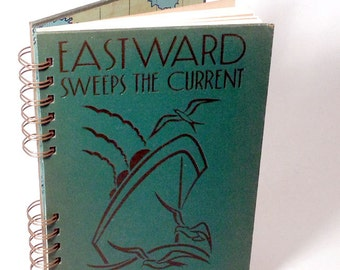 1937 CRUISE JOURNAL Handmade Journal Vintage Travel Notebook